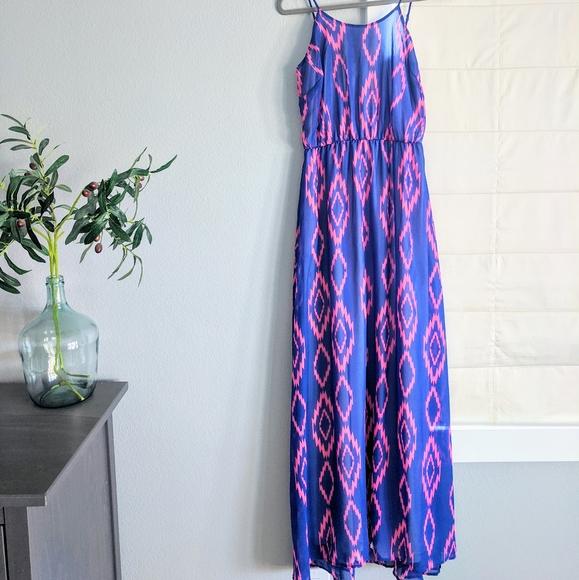 Blue/ Pink Summer Maxi Dress